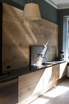 Dinesen wood kitchen by Garde Hvalsoe in the Dinesen showroom in Sotorvet, Copenhagen |