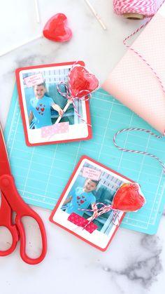 Easy Last Minute Lollipop Photo Valentines Diy Paper, Paper Crafts, Photo Layouts, Valentine's Day Diy, Valentine Crafts, Paper Goods, Damask, Easy, Tutorials
