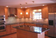 Like color combos with granite and tile backsplash
