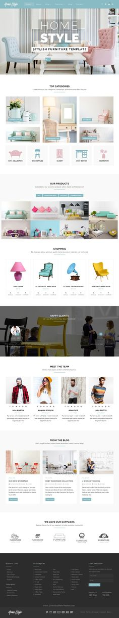 HomeStyle is a stylish Bootstrap template for #furniture #shop, home decoration, Interior, architecture #websites and blogs. Download Now!