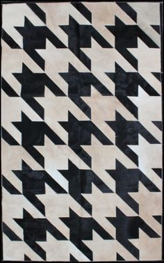 Houndstooth Hair on Hide Rug by Mike Ragan