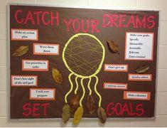 Dream catcher, goal setting, RA, fall, reslife, bulletin board