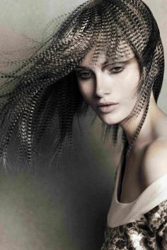 Feathered hair by Angelo Seminara for Davines