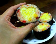 모르면 손해!!예쁘고 이색적인 김밥 12가지 종류 Appetisers, Korean Food, Sushi, Food And Drink, Cooking Recipes, Eggs, Breakfast, Ethnic Recipes, Desserts