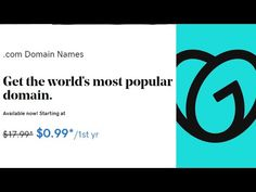 Get .COM Domain at $1=Rs.76 from GoDaddy - YouTube Science And Technology, Digital Marketing, How To Apply, Coding, Letters, Youtube, Letter, Lettering, Youtubers