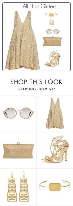 """""""Glitters"""" by shamrockclover ❤ liked on Polyvore featuring Gucci, Sandra Mansour, Evie & Emma and Jennifer Fisher"""