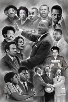 Leaders of the Civil Rights Movement....Martin Luther King, (Atlanta, 15 de…