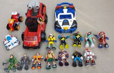 SOLD!!!  Fisher Price Rescue Heros Action 12 Figures Police Car Firetruck 4 Vehicle Lot   eBay