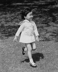 A three yrs old Princess Nori, daughter of Japan's Crown Prince Akihito, romps in the garden of the Togu Palace on 9 May 1972
