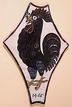 "Ecu héraldique (targa) de forme ""testa di cavallo"", 1466, Faenza, Toscane (Italie)"