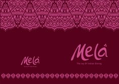 Mela menu cover Hospitality, Inspire Me, Menu, Joy, Restaurant, Graphic Design, Cover, Pictures, Inspiration