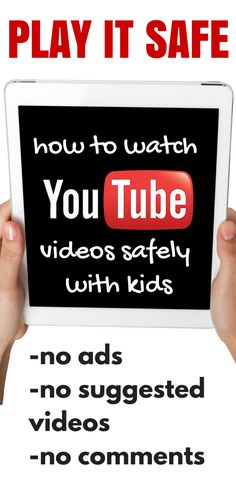 How did I not know about this until now???  How to Watch YouTube Videos Safely with Kids:  No ads, no suggested videos, no comments!!!