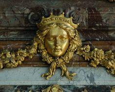 Gold mascaron - Versailles   Flickr - Photo Sharing!
