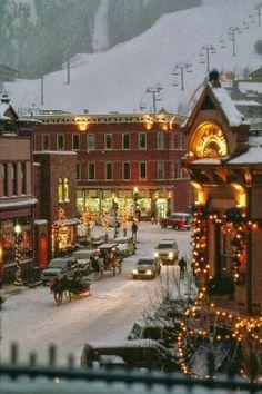 Aspen, Colorado...  I want to go here for Christmas.