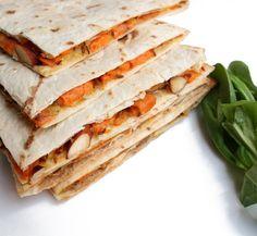 Veganmisjonen: Quesadilla med bakt søtpotet og mandler