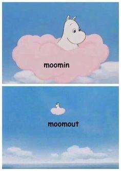 Moomin when he sees wierd fan art of him and his friends. Cartoon N, Vintage Cartoon, Moomin Wallpaper, Moomin Valley, Tove Jansson, Fandom Memes, Little My, Looks Cool, Anime