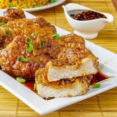 Double Crunch #Honey #Garlic #Pork Chops - Our most popular pork recipe yet. Super crunchy yet juicy pork chops dipped in an easy to make honey garlic sauce. ..