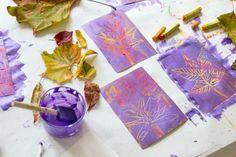Fall Leaf Art with DIY Scratch Paper