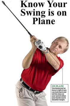 Golf Tips Swing The golf swing plane is a important part of golfers playing their best golf and lowering their scores. Learn a simple way to tell whether your golf swing is on plane and watch your scores drop. Golf Magazine, Golf Putting Tips, Best Golf Clubs, Golf Practice, Golf Videos, Golf Drivers, Golf Instruction, Golf Exercises, Golf Tips For Beginners