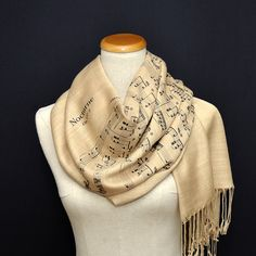 Sheet Music Shawl/Scarf by UniversalZone on Etsy