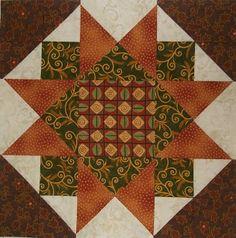"""Chock-A-Block Quilt Blocks: Morning Star Variation 12.5"""""""