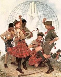 A Good Sign All Over The World     Norman Rockwell