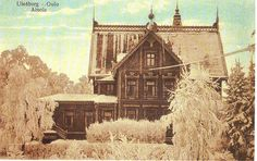 Oulu, old Finnish postcard Beautiful Buildings, Old Pictures, Vintage Postcards, Postage Stamps, Norway, Sweden, Scandinavian, Cottage, Houses
