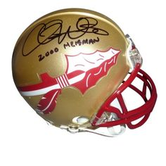 "Chris Weinke Signed Mini Helmet with ""2000 Heisman"" Inscription #SportsMemorabilia #FloridaStateSeminoles"
