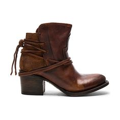 Freebird by Steven Casey Bootie ($255) ❤ liked on Polyvore featuring shoes, boots, ankle booties, booties, short lace up boots, ankle boots, lace up boots, leather ankle booties and laced ankle boots