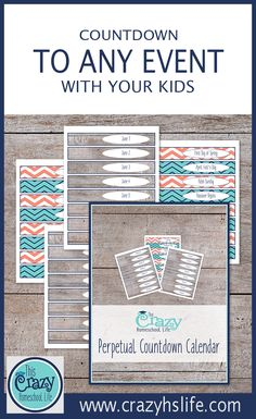 Create a tear-off countdown calendar to any event or holiday with this printable perpetual calendar!