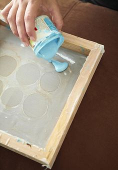 How to screen print with Mod Podge.