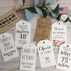 A selection of tasteful birthday invitations chosen by a professional party planner 50th Birthday Party Ideas For Men, 80 Birthday, 40th Birthday Parties, 50th Birthday Party Invitations, Custom Tags, Celebrations, 30th, Paper Crafts, Travel