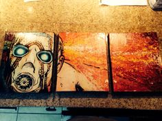 """This is freaking badass!!! """"Badass 3-piece Borderlands canvas print my girlfriend made me. - Mr_Bishi47"""""""