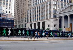 "NYC ♥ NYC: Construction Site Art: ""Walking Men 99"" by Maya Barkai"