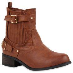 Damen Stiefeletten Chelsea Boots - Braun - Euville