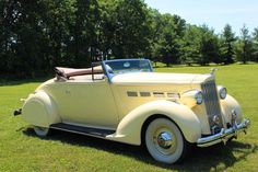 1937 Packard 120C convertable....love the fender skirts...