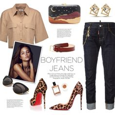 Just chic - Boyfriend jeans by edita1 on Polyvore featuring moda, Equipment, Dsquared2, Christian Louboutin, Silvia Furmanovich, ANNA and boyfriendjeans