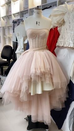 alexandermcqueen on Instagram: The development of the finale dress from the #FirstLight collection, captured in the London atelier. A deconstructed dress with a… T Lights, Couture Details, Deconstruction, Backstage, Designer Dresses, Alexander Mcqueen, Tulle, Ballet Skirt, London