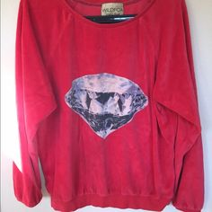 Wildfox diamond velour jumper Good used condition. Made out of velour Wildfox Tops Sweatshirts & Hoodies