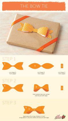 moño de corbata en papel