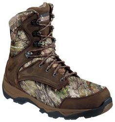 ROCKY Retraction Thinsulate Waterproof Insulated Hunting Boots for Men -  Dark Brown/Mossy Oak Country