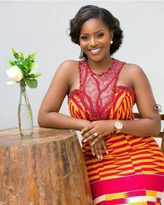 Ghanaian's Kente Styles Slay For Days Latest African Fashion Dresses, African Dresses For Women, African Print Dresses, African Print Fashion, Africa Fashion, African Wedding Attire, African Attire, African Wear, Kente Dress