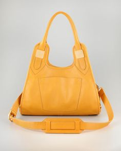 66a069e05 Lucas Small Leather Hobo Bag Maize