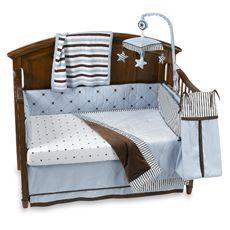 Brandon Blue Crib Bedding & Accessories - buybuy BABY Maybe. Nursery Bedding Sets, Blue Bedding, Nursery Themes, Crib Bedding, Brown Bedding, Nursery Art, Nursery Ideas, Room Ideas, Baby Boy Rooms
