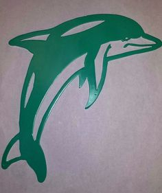 Dolphin Silhouette Cut Out Wall Art decoration par LAZYKWroughtIron