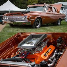 '63/64 Plymouth with a 426 wedge and two four barrels....