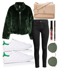 """Monday..."" by jadenriley21 on Polyvore featuring Free People, Ray-Ban, Yves Saint Laurent and adidas"