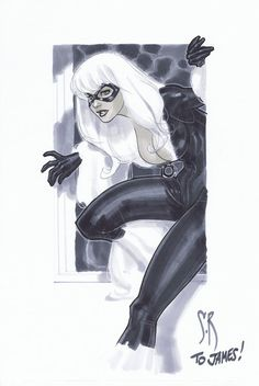 Black Cat Sketch again... by StephaneRoux