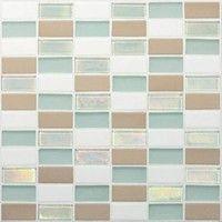 "Daltile Coastal Keystone Straight-Joint Mosaic 12"" x 12"" : Tradewind Blend CK86 21PM1P"