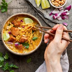 Now that we know how to make tempeh, it's time to use it! Khao Soi is a spicy Thai coconut curry soup served with noodles and usually chicken, which we will substitute with tempeh. It's super creamy thanks to the coconut milk, full of Thai flavors and quite easy to make. As I said, this soup...Read More »